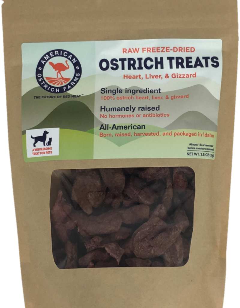 American Ostrich Farm Ostrich Freeze-Dried Treats 2.5oz