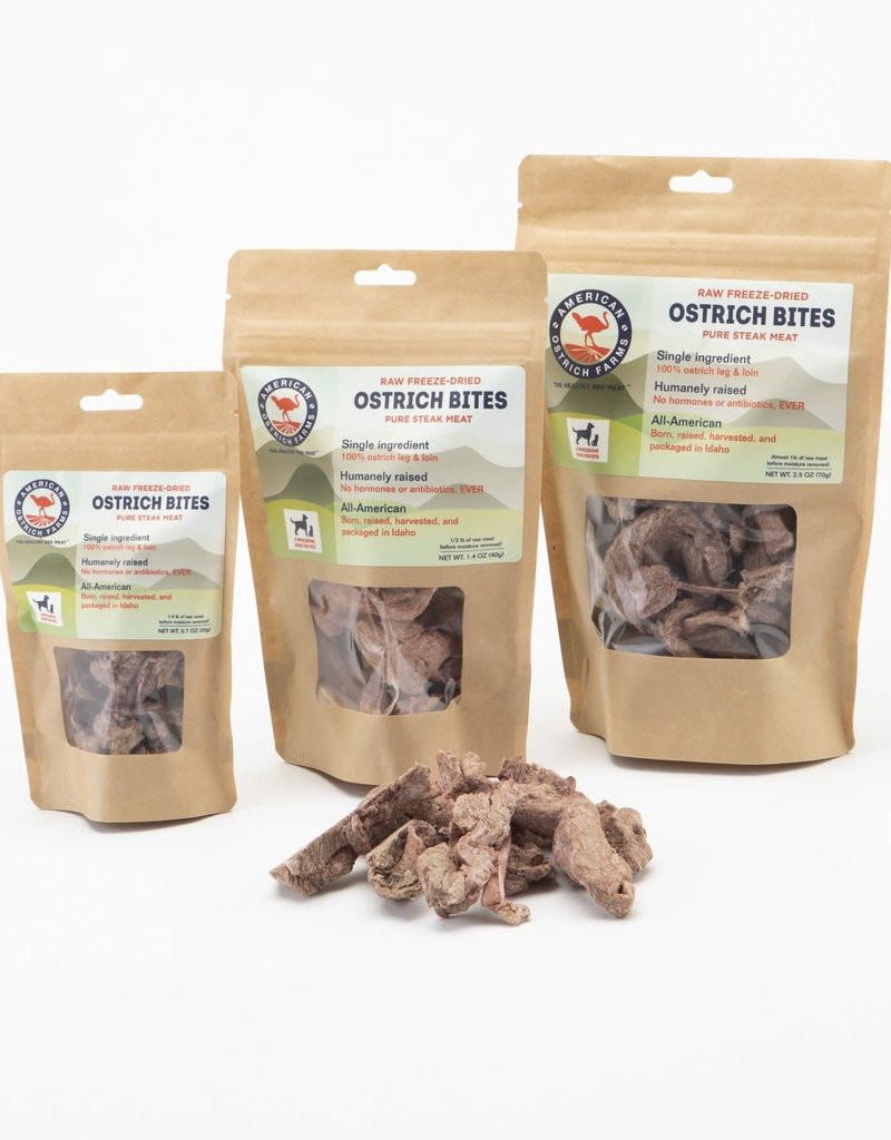 American Ostrich Farm Ostrich Freeze-Dried Steak Bites