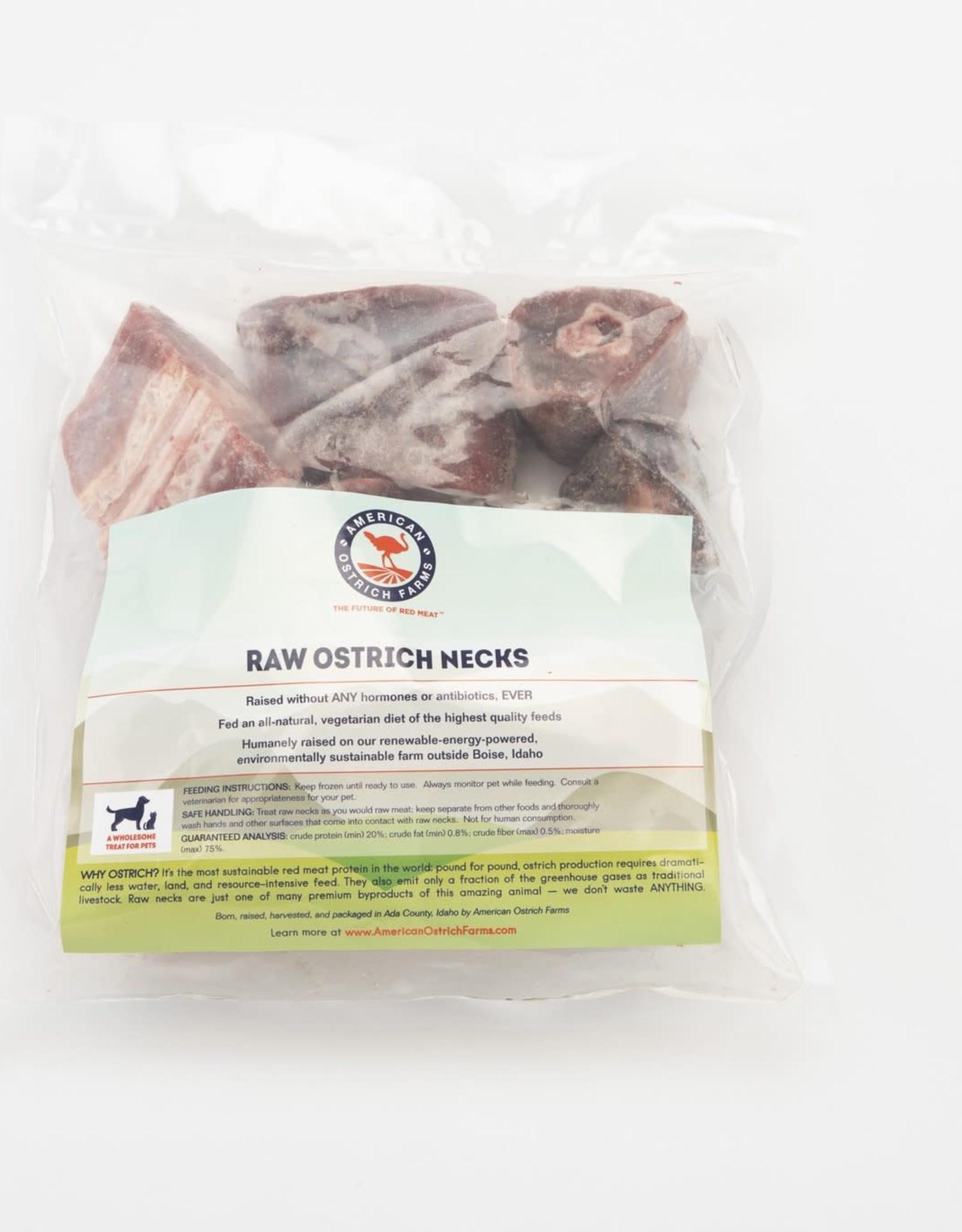 American Ostrich Farm Ostrich Raw Frozen Necks 1lb