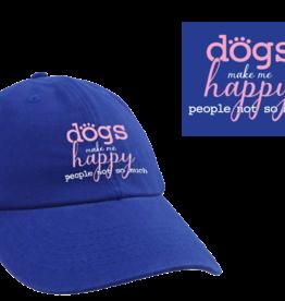 Dog Speak Ball Cap - Dogs Make Me Happy