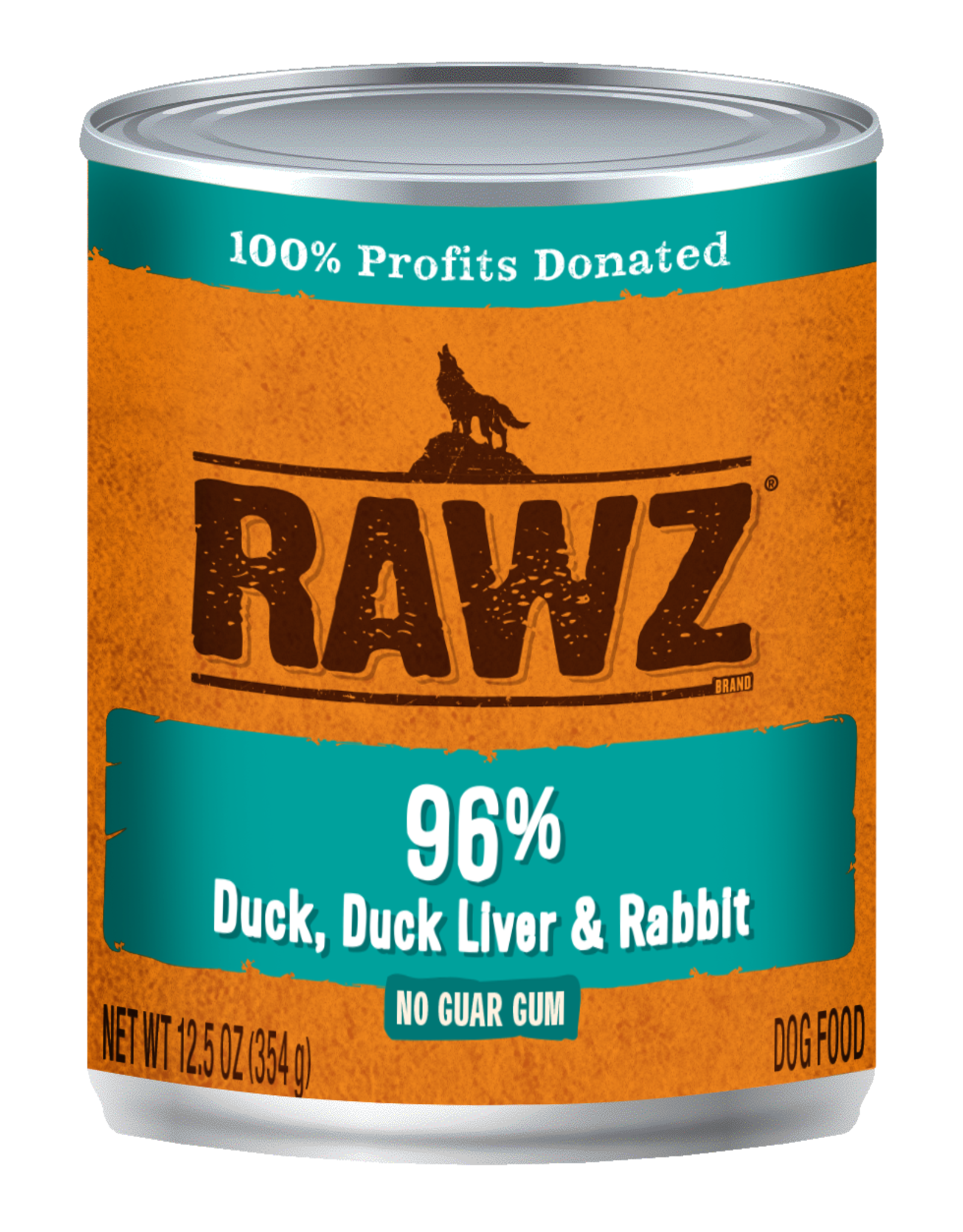 Rawz Rawz K9 96% Duck, Duck Liver, & Rabbit Pate 12.5oz