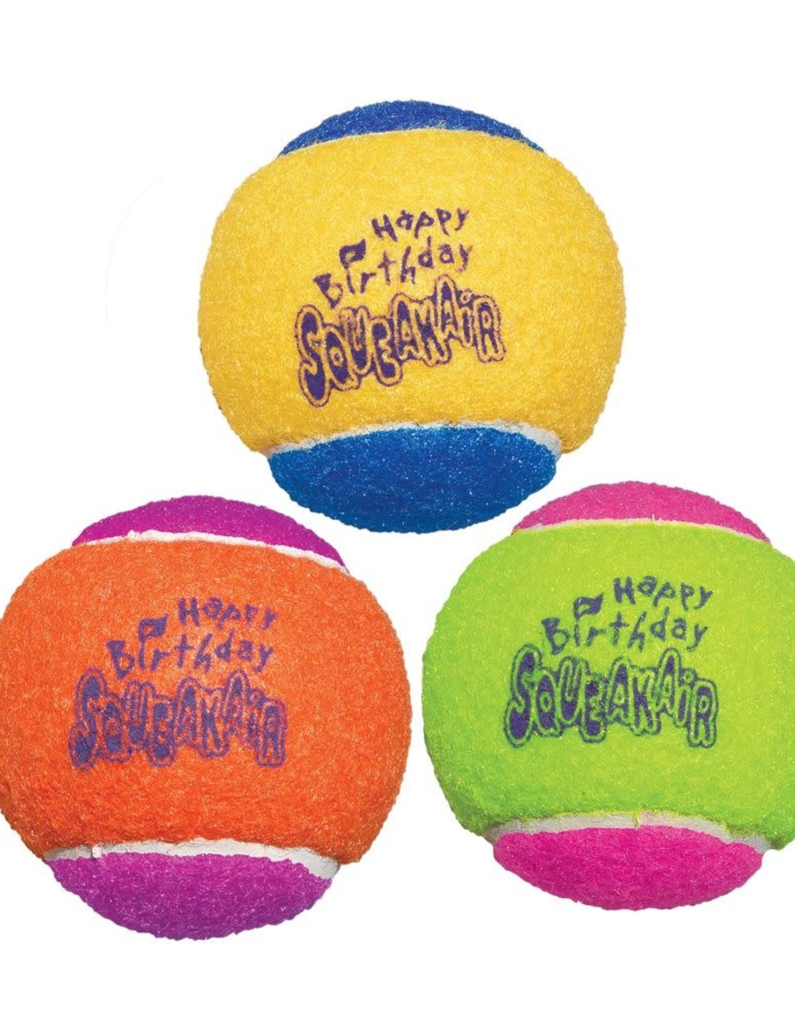 Kong SqueakAir Tennis Ball Birthday