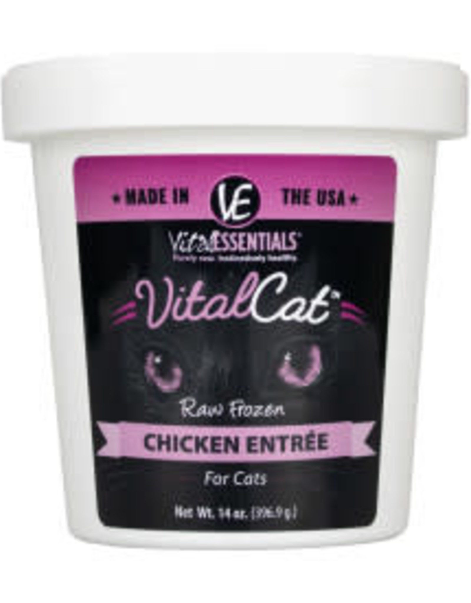 Vital Essentials Vital Essentials Cat Frozen Chicken Tub 14oz