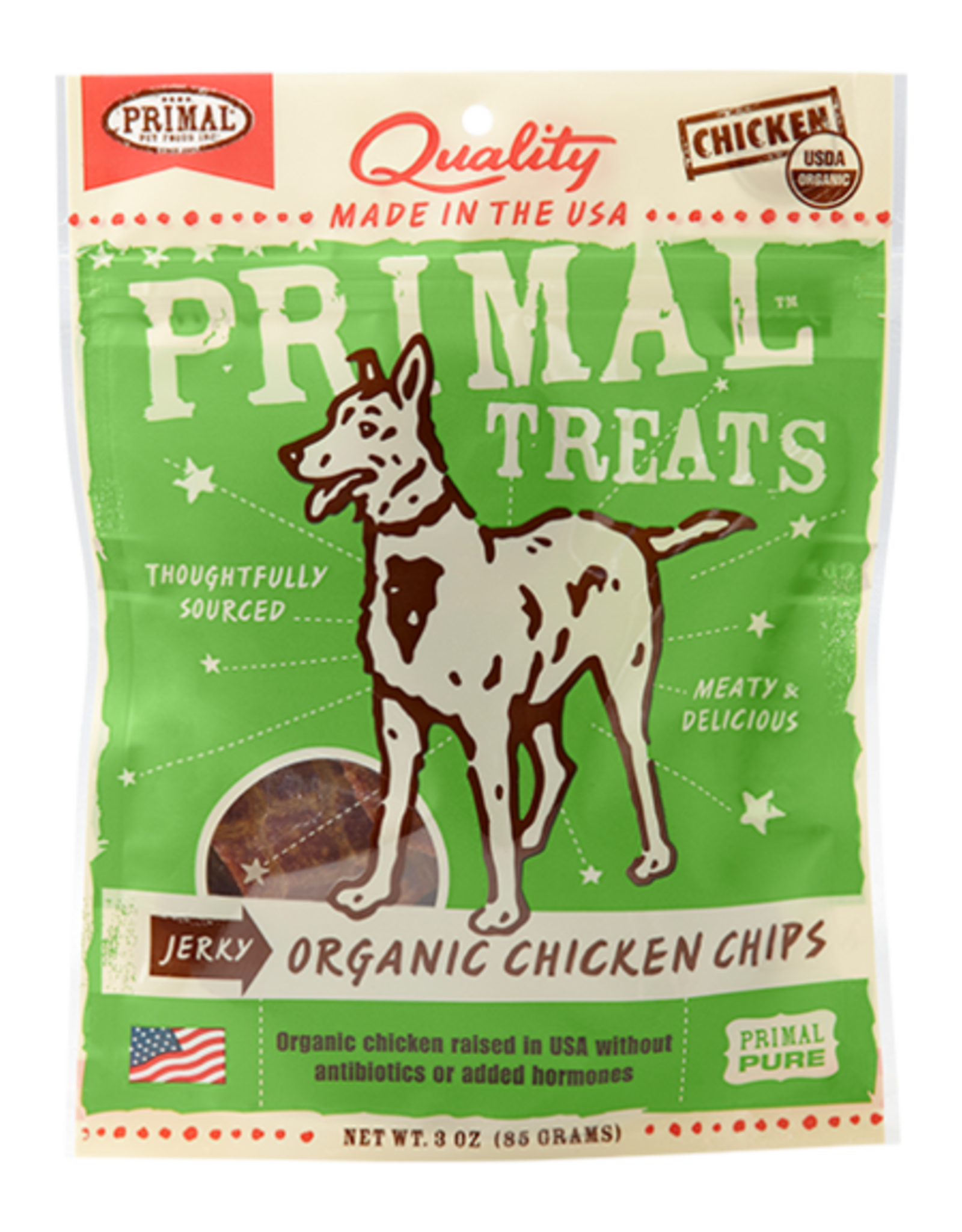 Primal Pet Food Primal Organic Chicken Chips Jerky