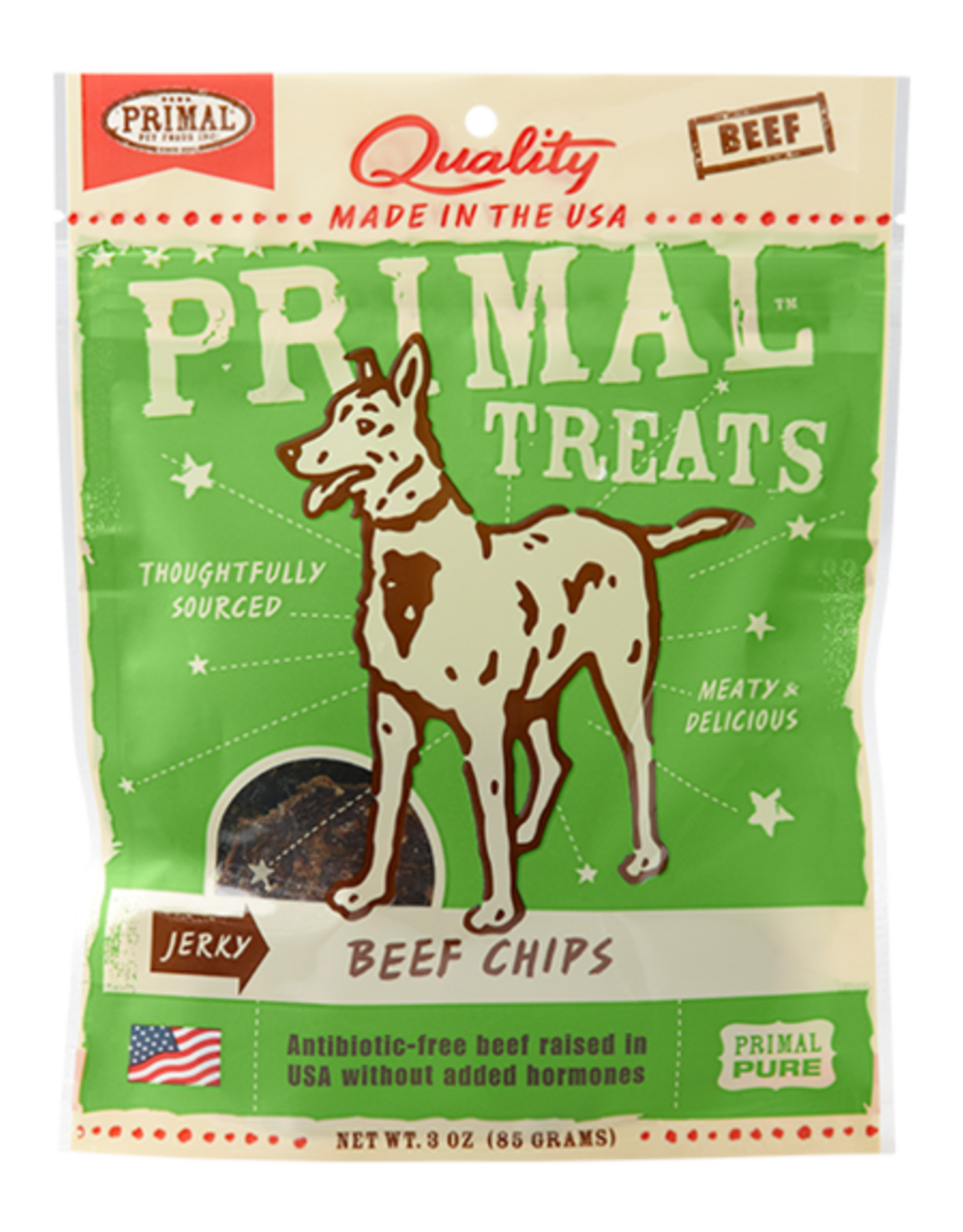 Plato Pet Treats Primal Beef Chips Jerky
