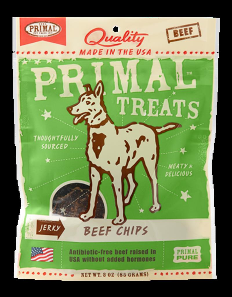Plato Pet Treats Primal Beef Chips Jerky