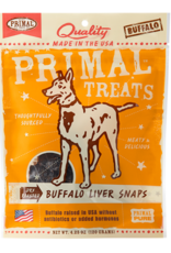 Primal Pet Food Primal Buffalo Liver Snaps Dry Roasted