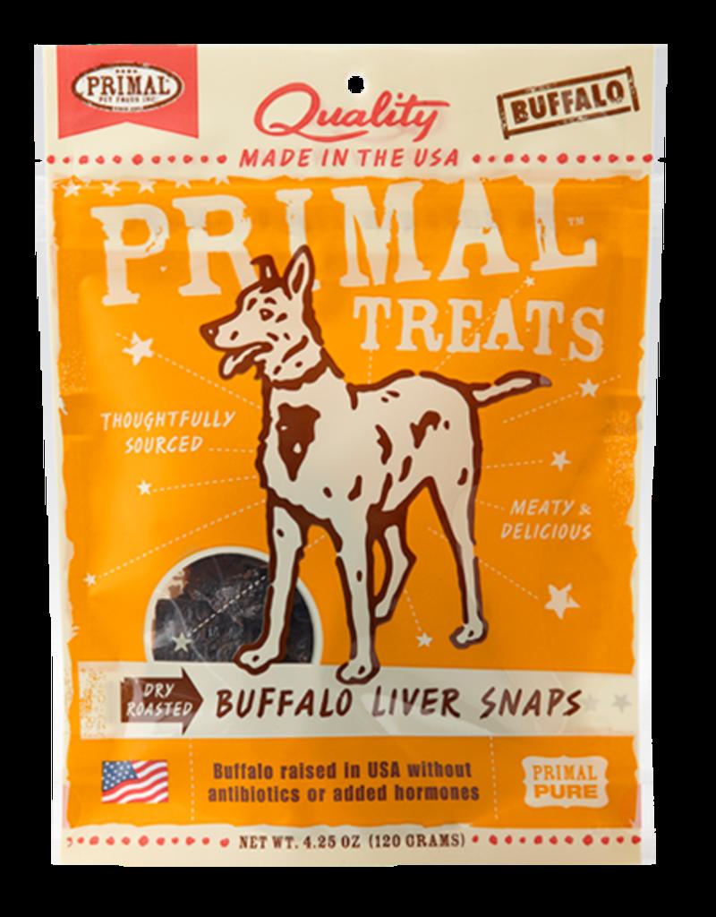 Primal Pet Food Primal Buffalo Liver Snaps Dry Roasted