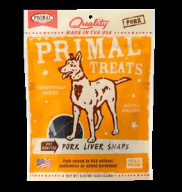 Primal Pet Food Primal Pork Liver Snaps Dry Roasted
