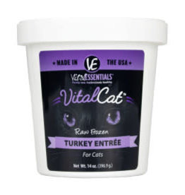 Vital Essentials Vital Essentials Cat Frozen Turkey Tub 14oz