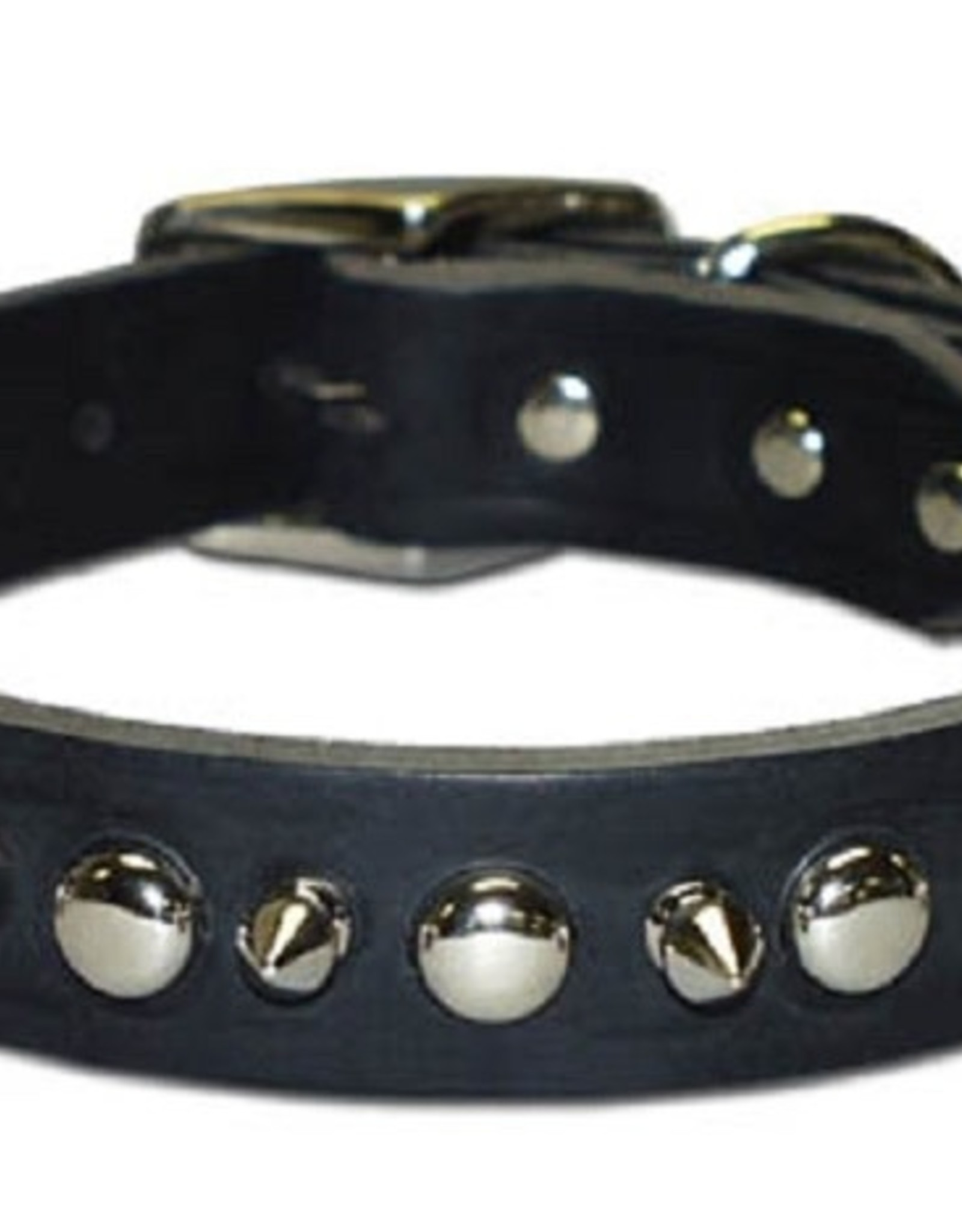 Leather Brothers Leather Brothers Spiked & Studded Latigo Collar - Black