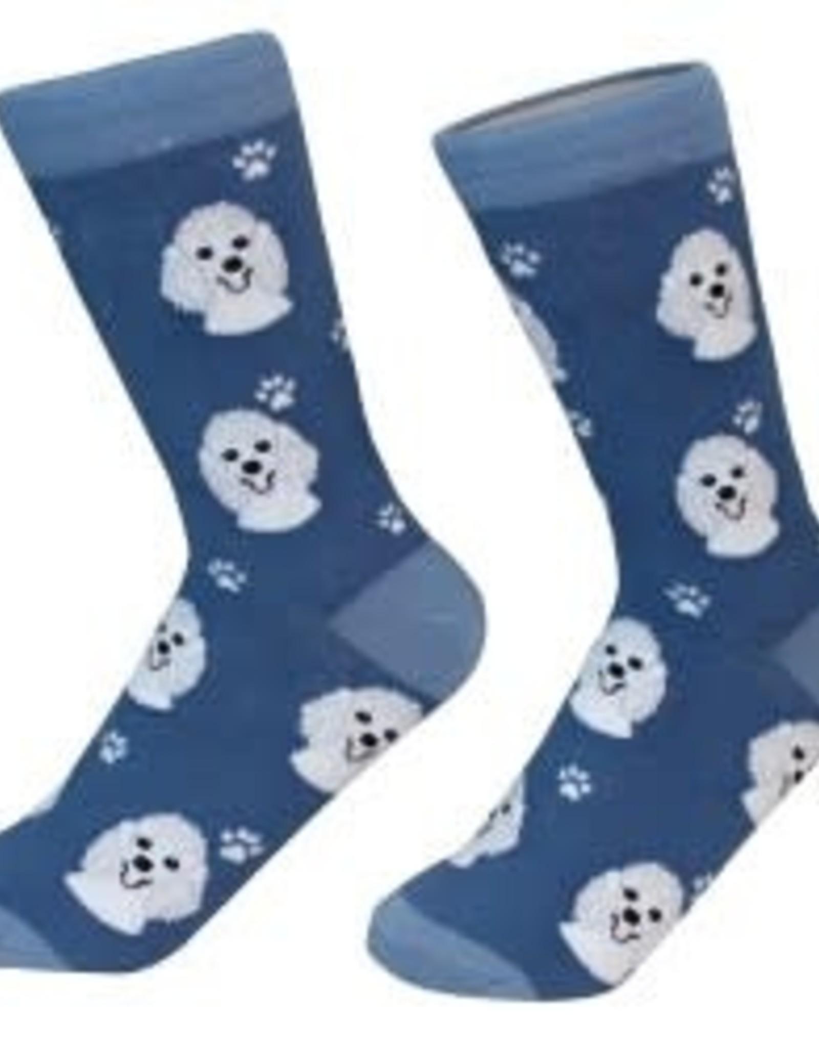 Poodle White Socks