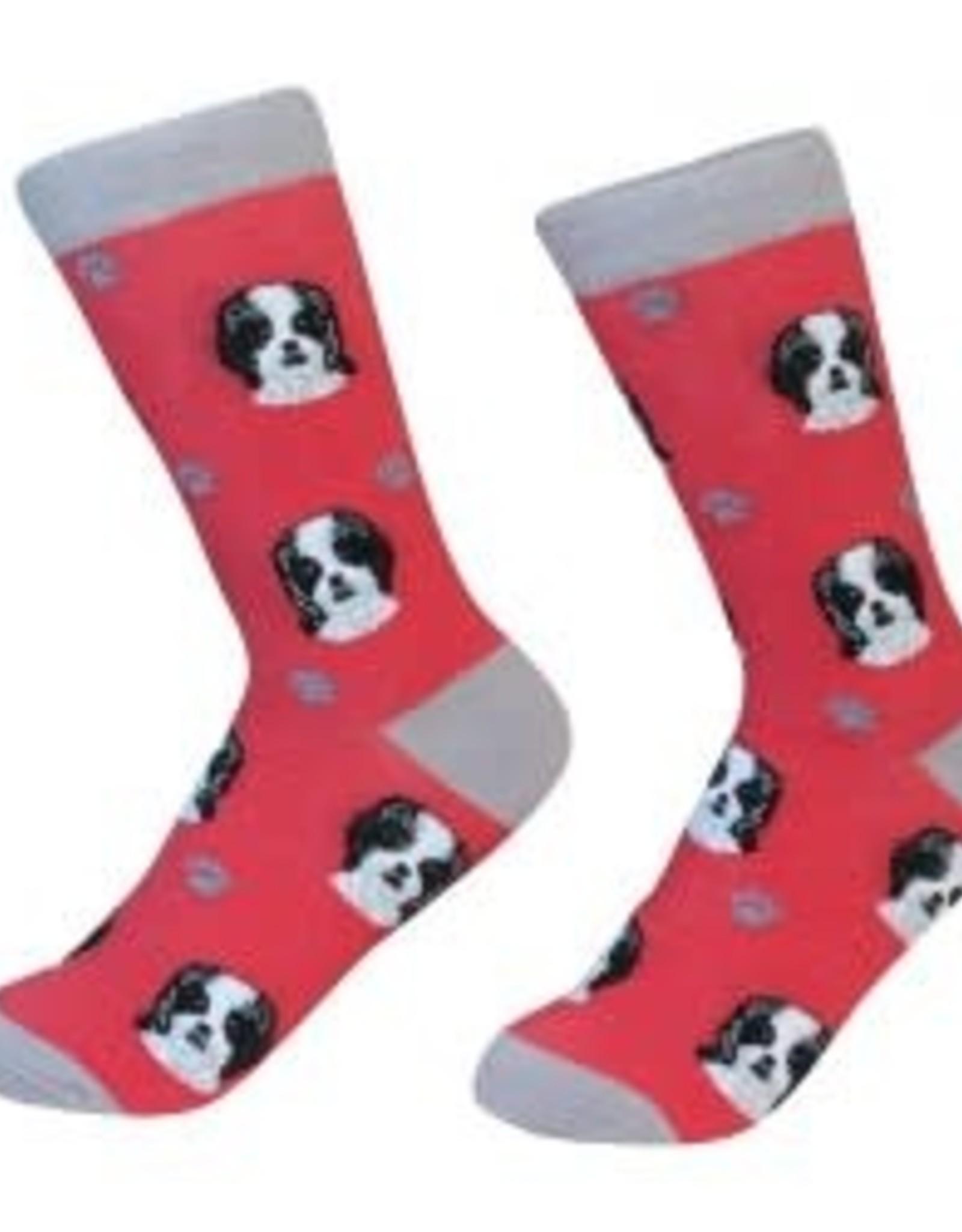 Shih Tzu Black Socks