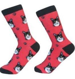 Cat - Black & White (Tuxedo) Socks