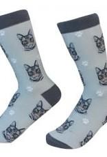 Cat - Silver Tabby Socks