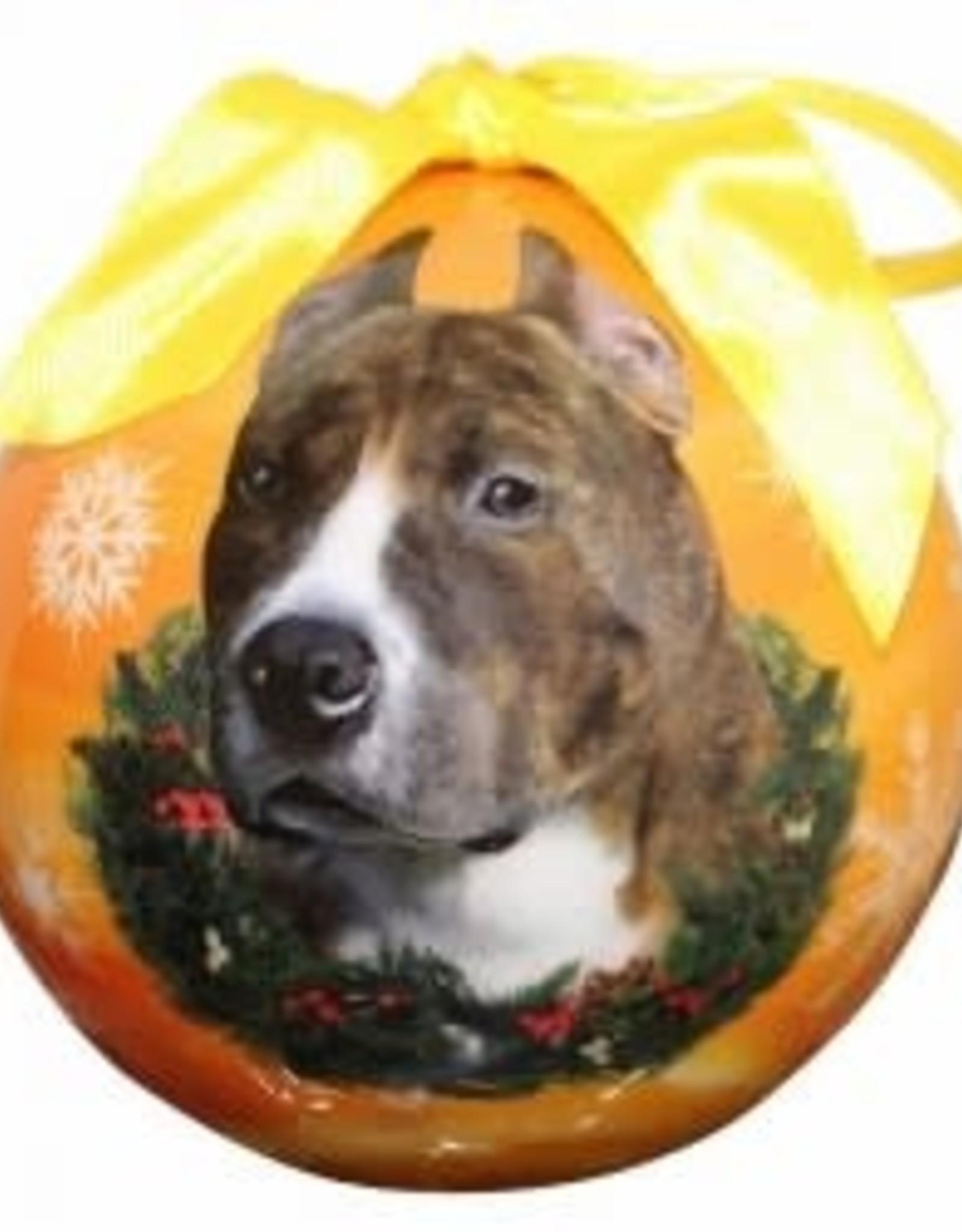 Pit Bull, Brindle Ornament