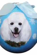 Poodle, White Ornament