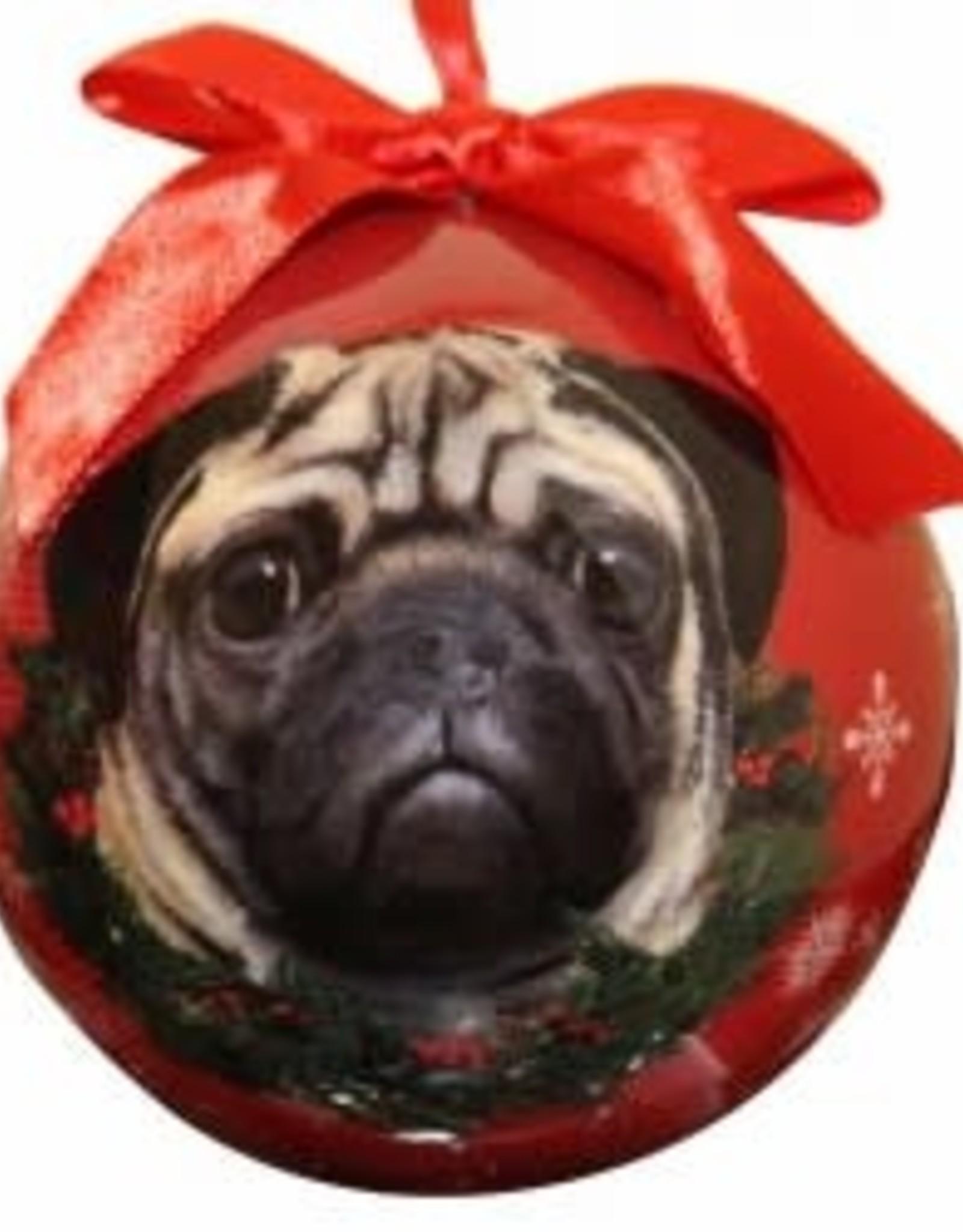 Pug Fawn Ornament