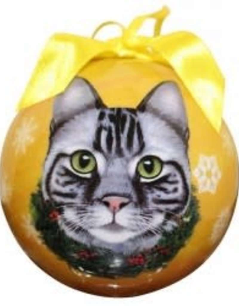 Cat - Silver Tabby Ornament