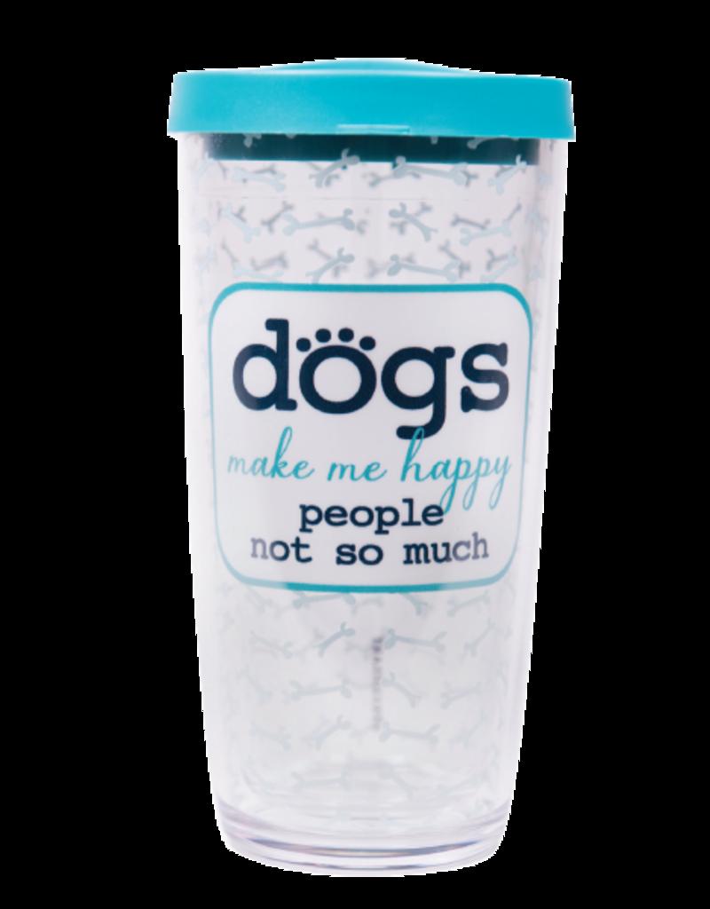 Dog Speak 16oz Thermal Tumbler - Dogs Make Me Happy