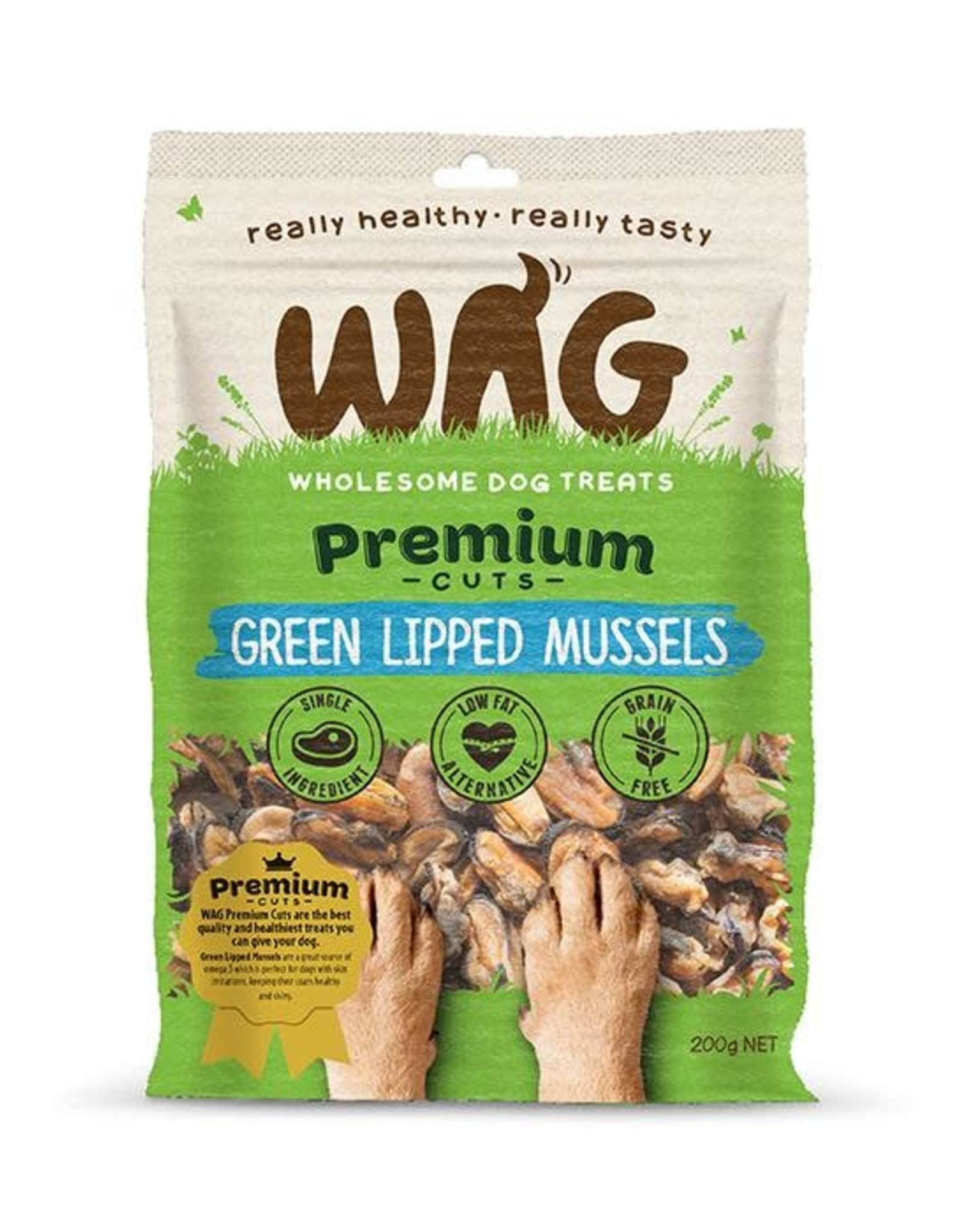 WAG WAG Green Lipped Mussels 50g