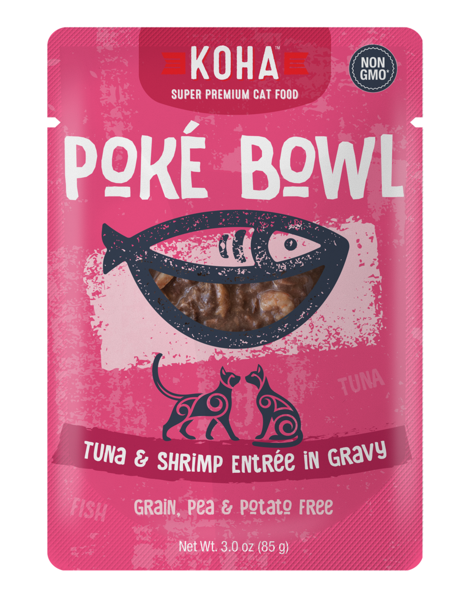 Koha Koha Poke Bowls Tuna & Shrimp for Cats