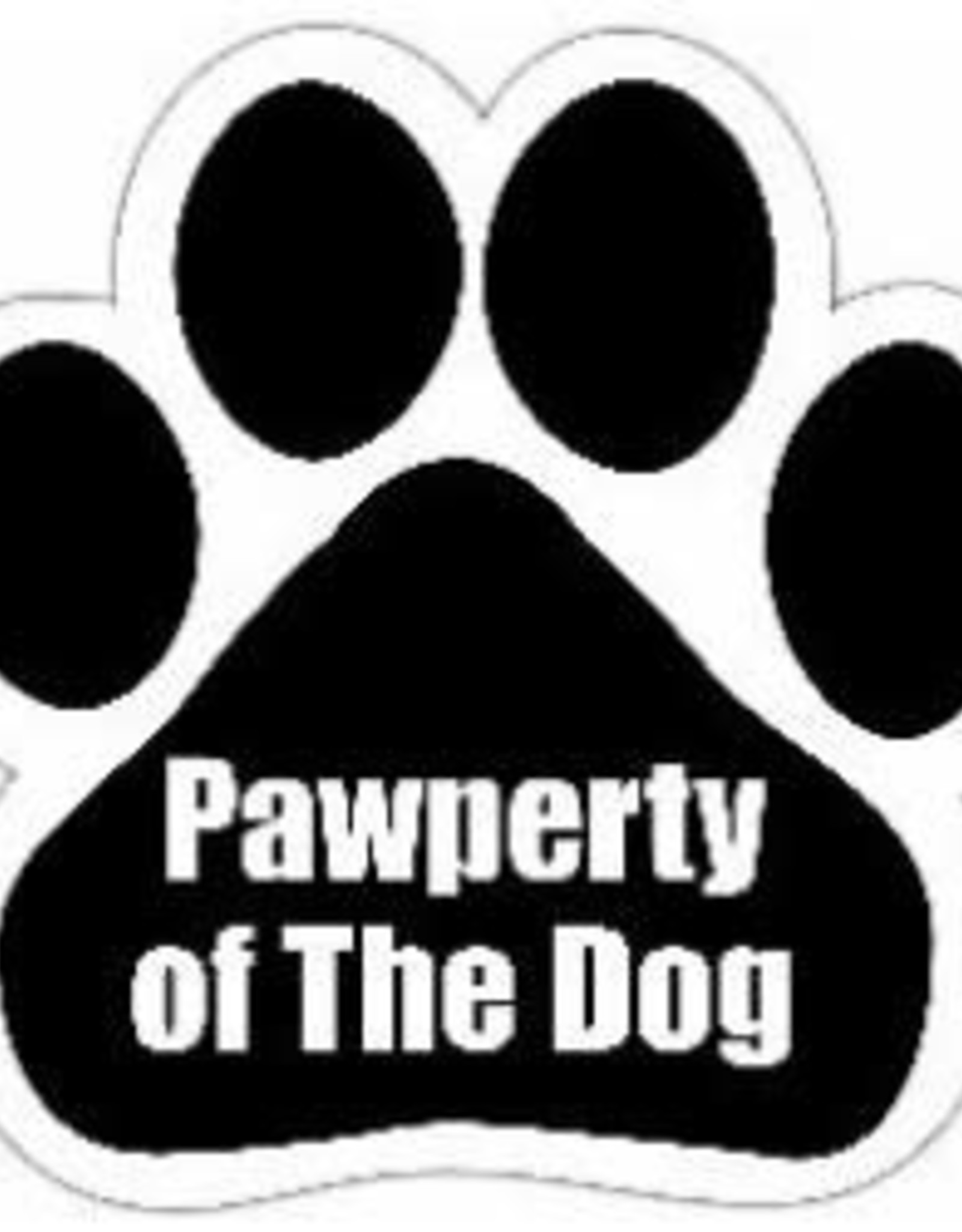 Car Magnet: Pawperty of the Dog