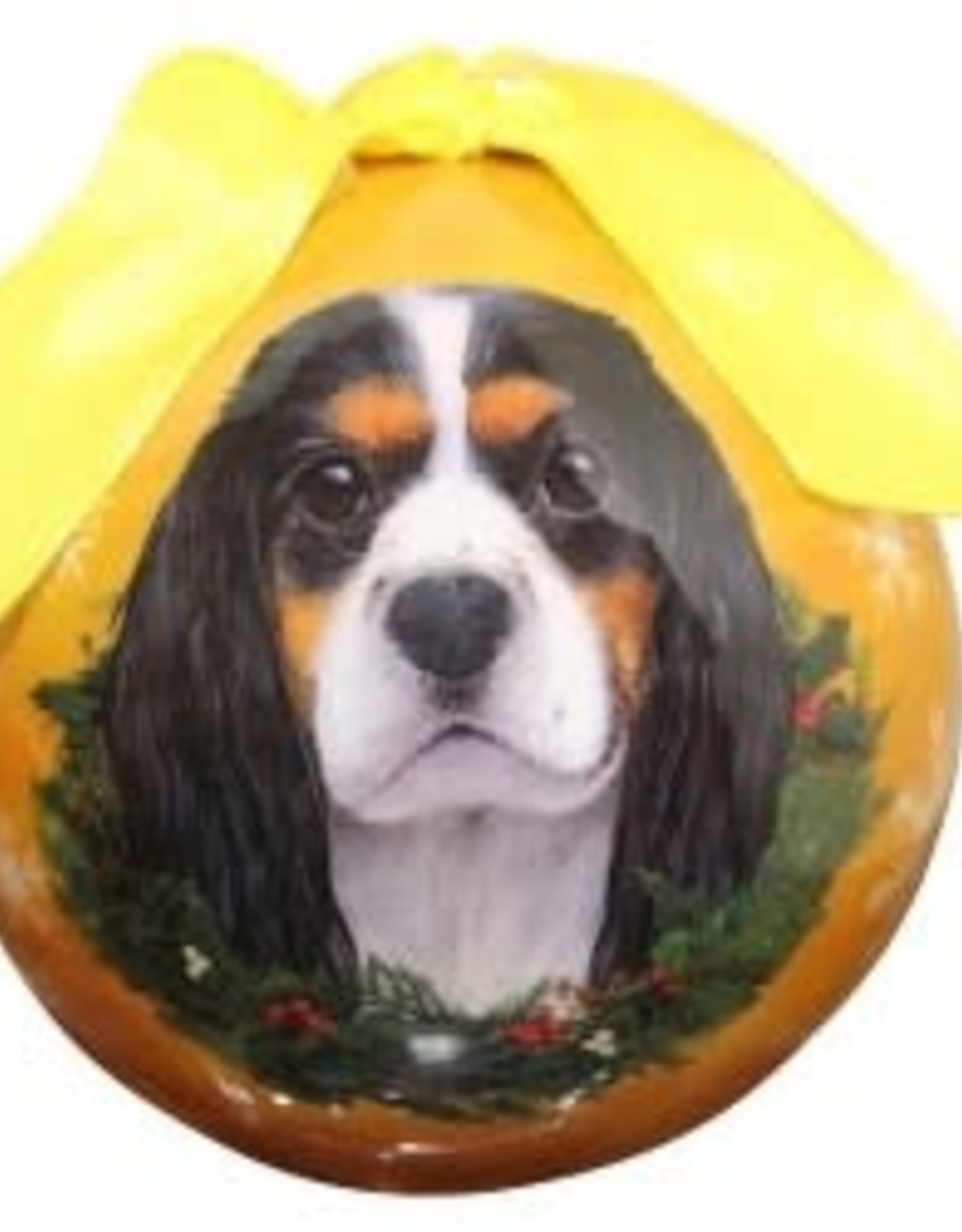 Cavalier King Charles Spaniel Tri-Color Ornament