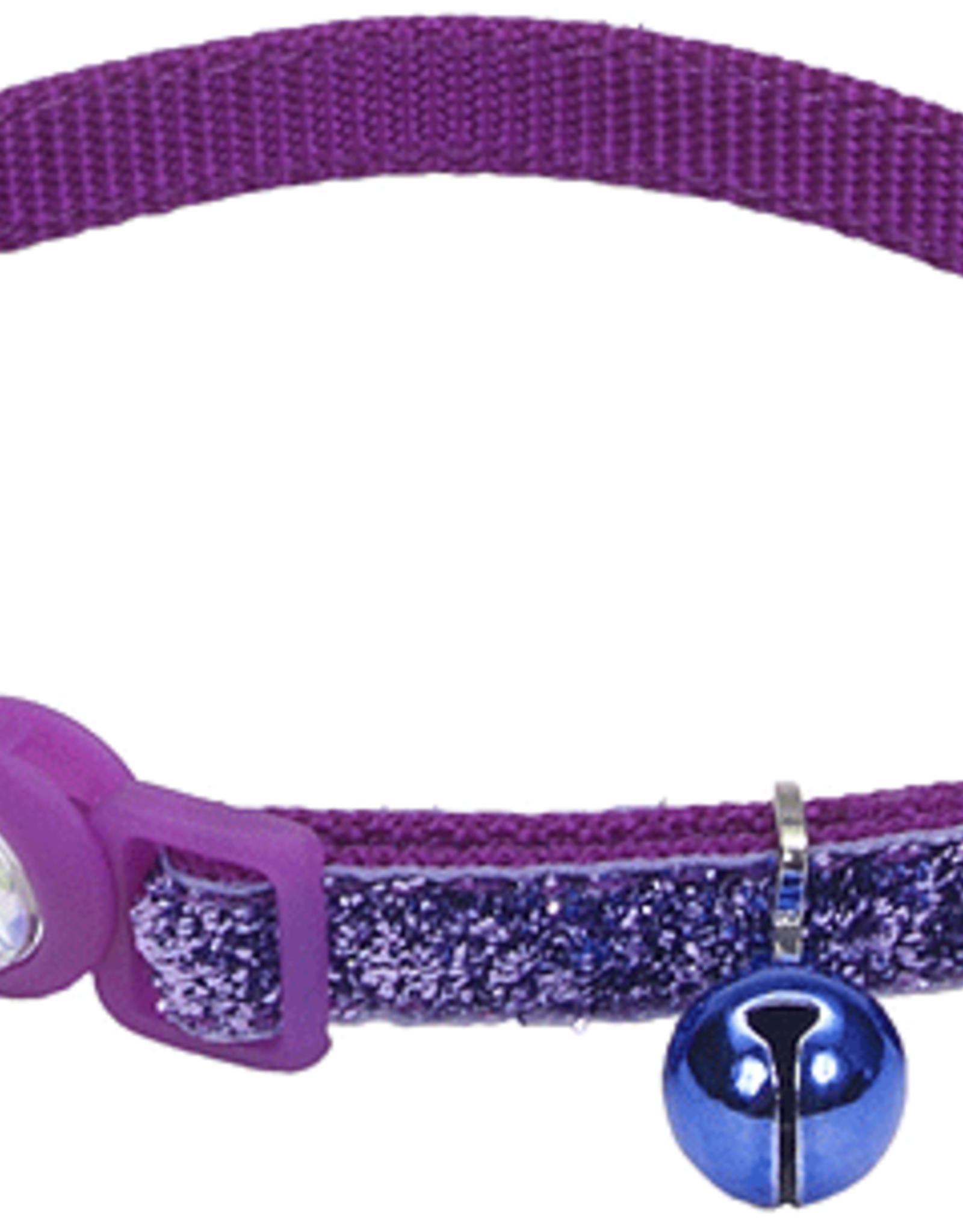 Coastal Cat Collar Purple Glitter