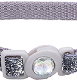 Coastal Cat Collar Silver Glitter