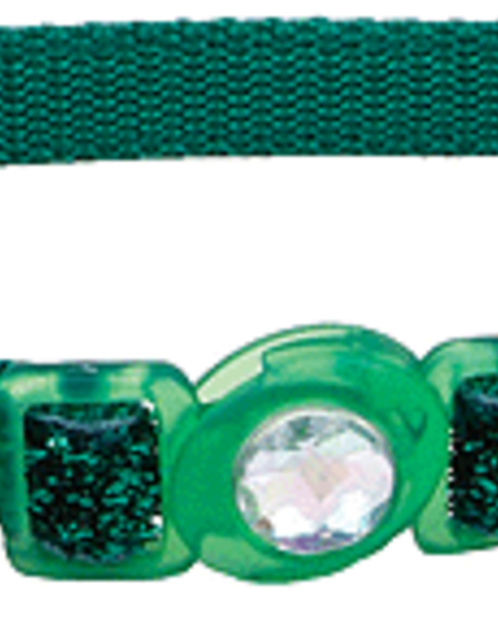Coastal Cat Collar Green Glitter