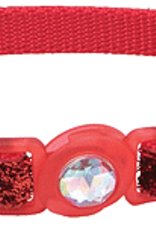 Coastal Cat Collar Red Glitter