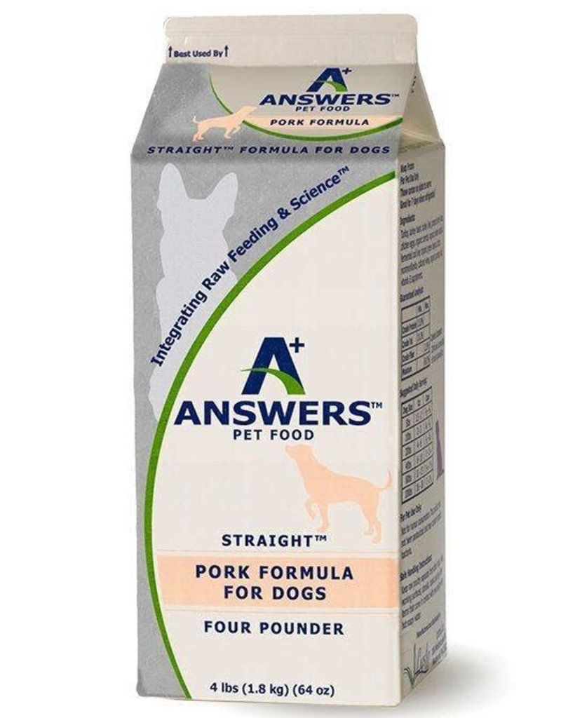 Answers Answers Straight Pork 4lb