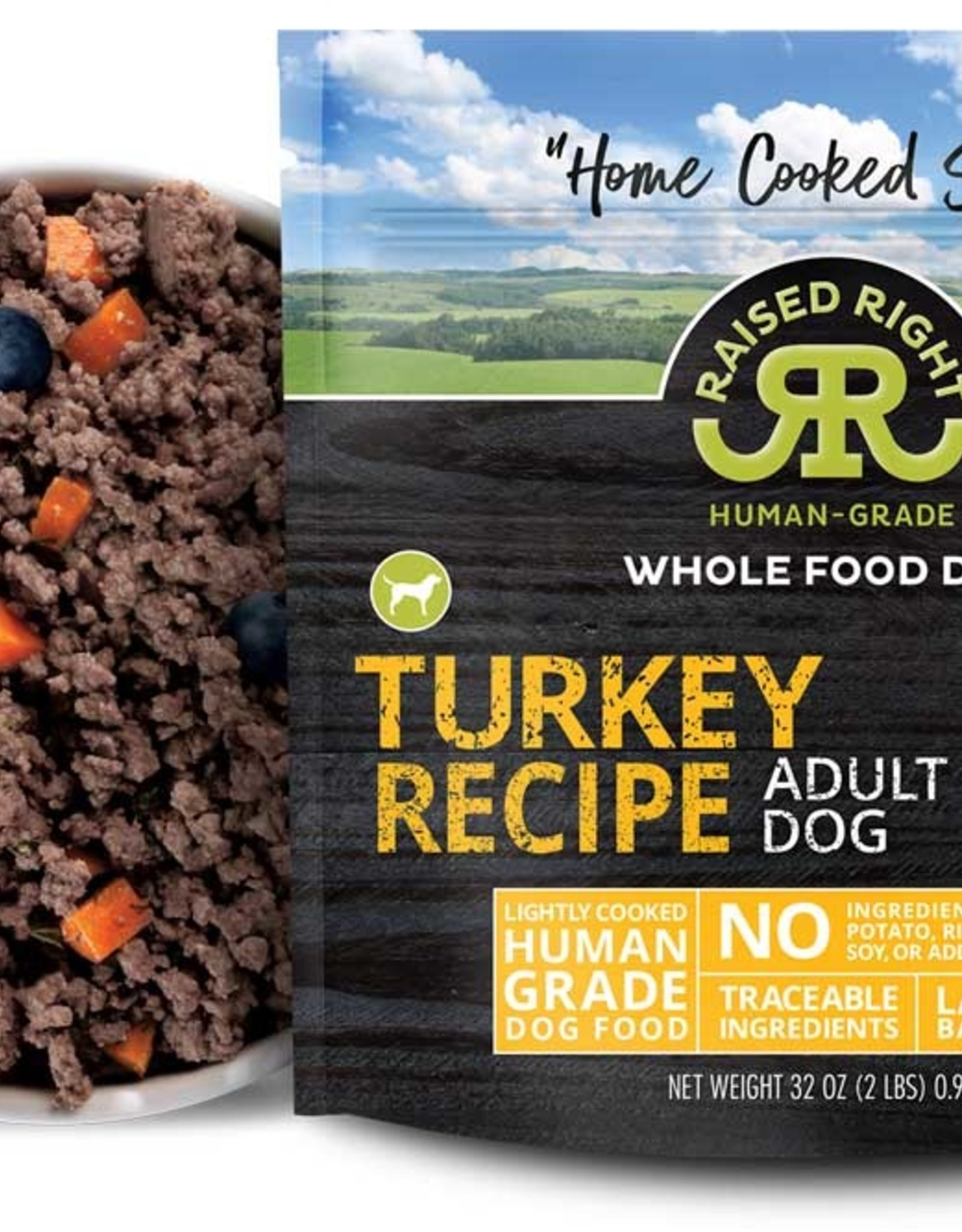 Raised Right Raised Right Turkey Adult Dog Recipe