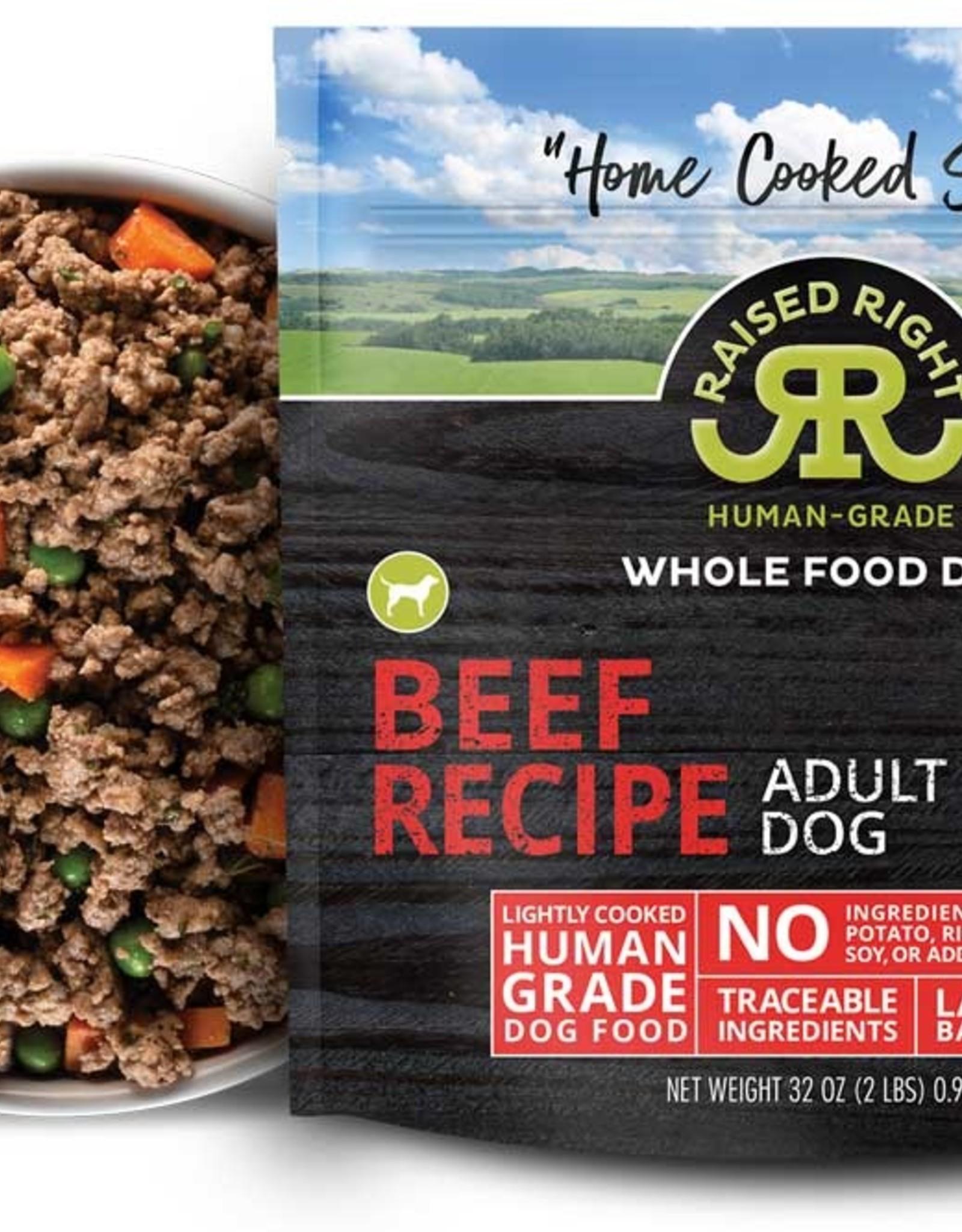 Raised Right Raised Right Beef Adult Dog Recipe