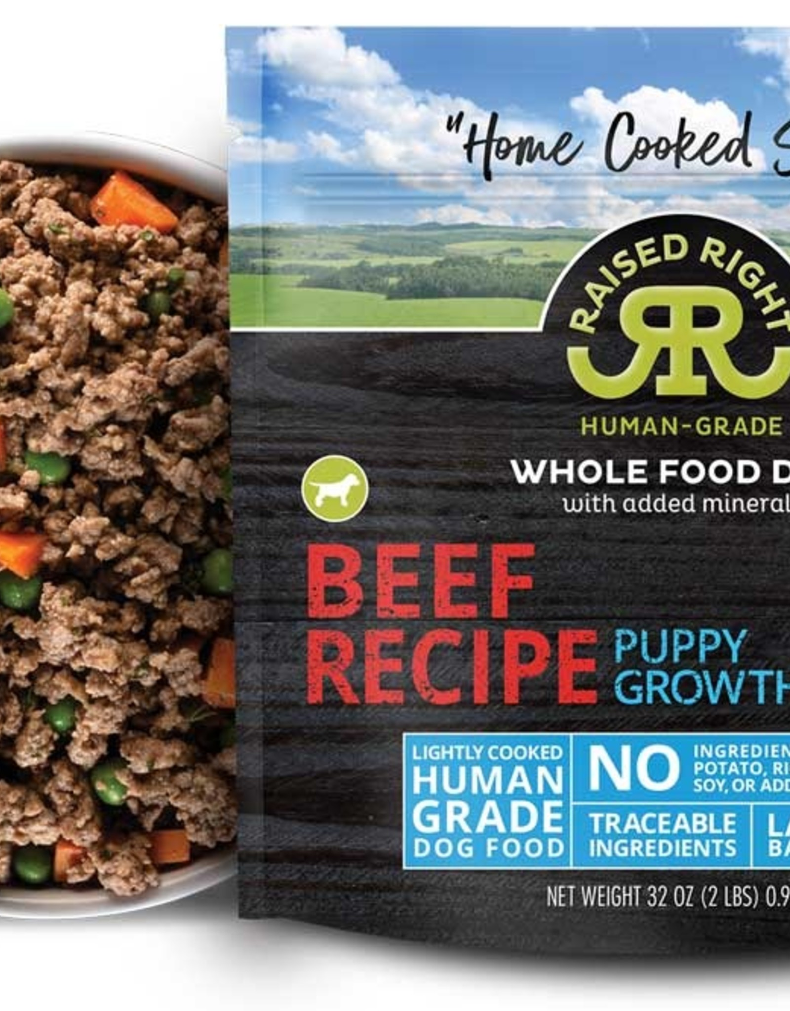 SALE - Raised Right Beef Puppy Growth Recipe