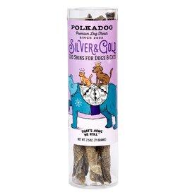 Polka Dog SALE - Polka Dog Holiday Silver & Gold -  Cod Skins
