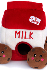 ZippyPaws ZippyPaws Holiday Burrow - Santa's Milk & Cookies