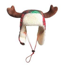 Red Tartan Trapper Hat
