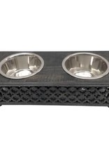 Trellis Pet Feeder in Blackwash