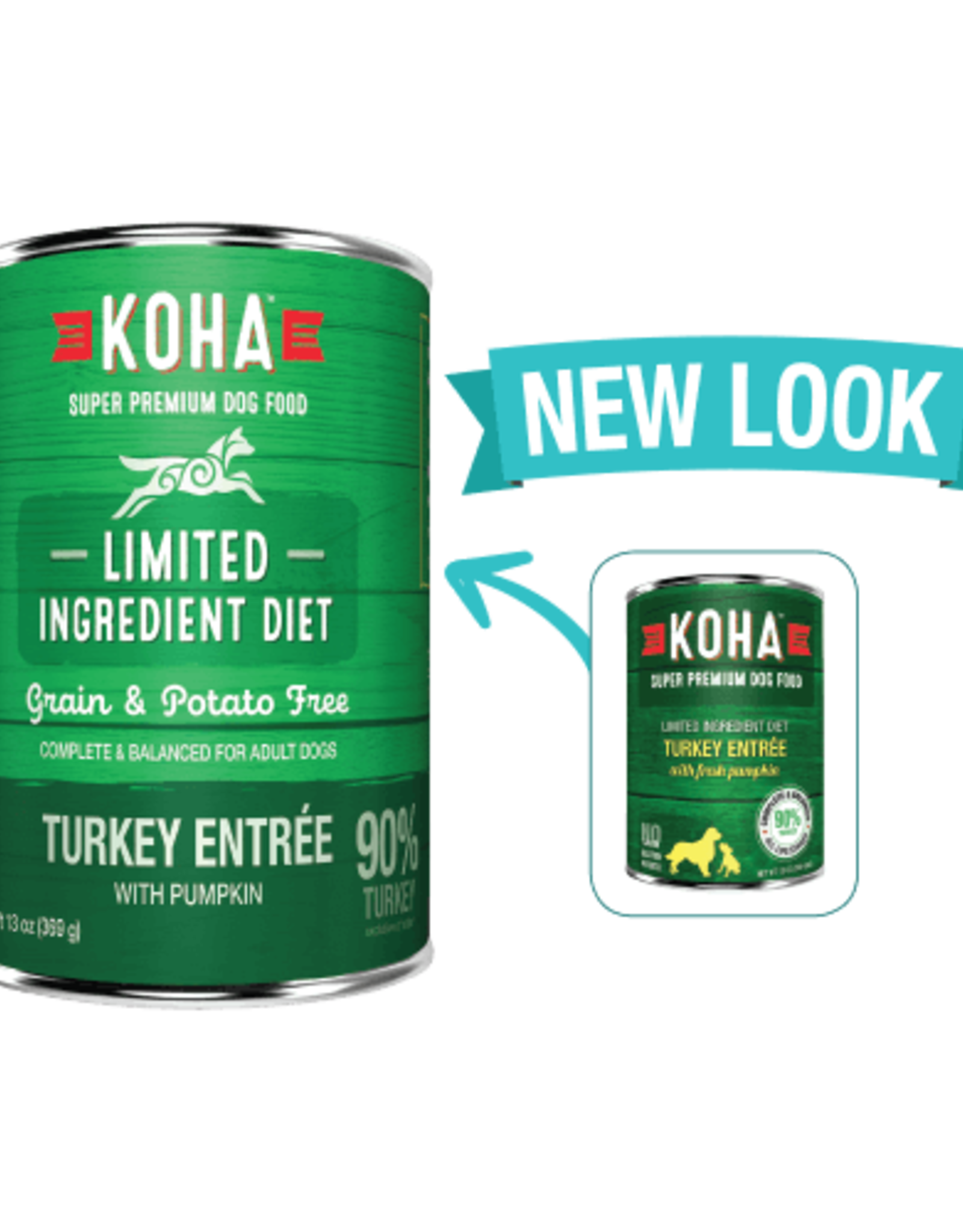 Koha Koha Limited Ingredient Turkey Entree for Dogs 13oz