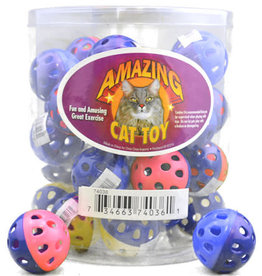 Amazing Cat Plastic Bell Ball 1.75 in