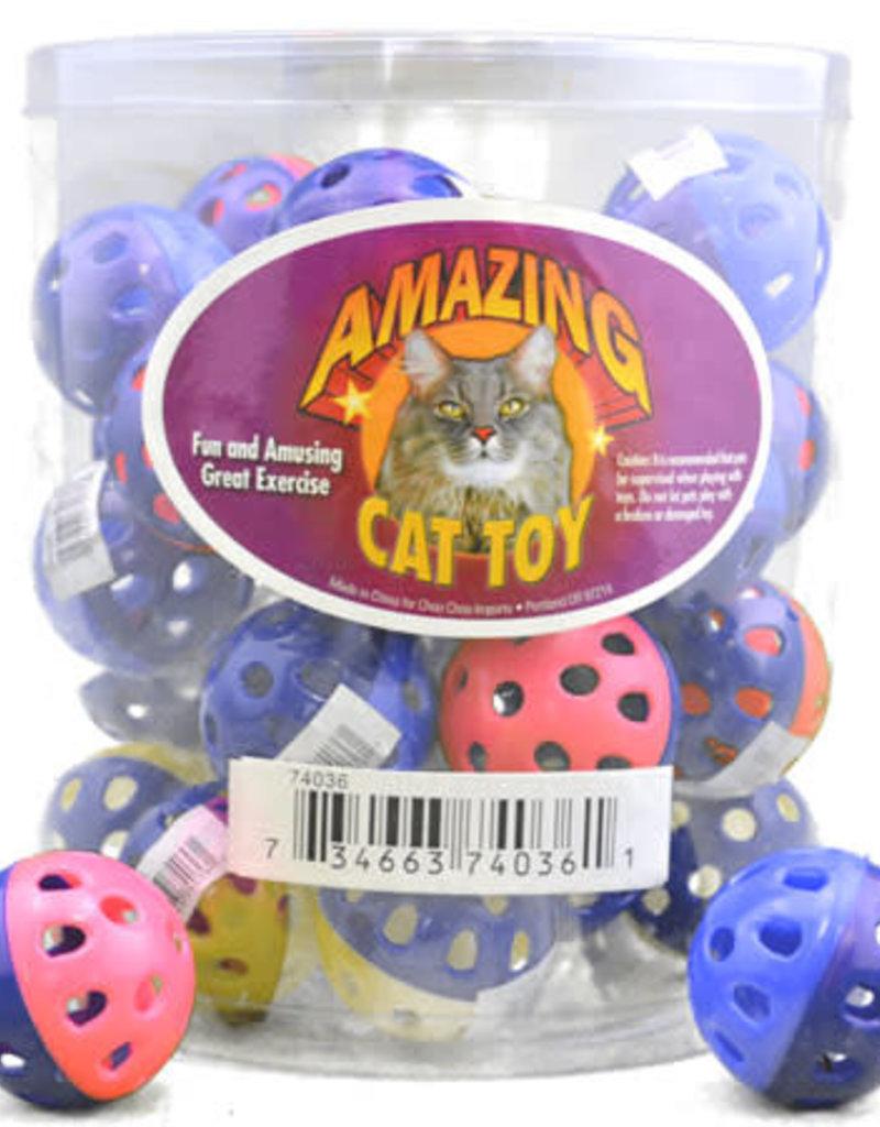 Amazing Cat Plastic Bell Ball 1.75 in