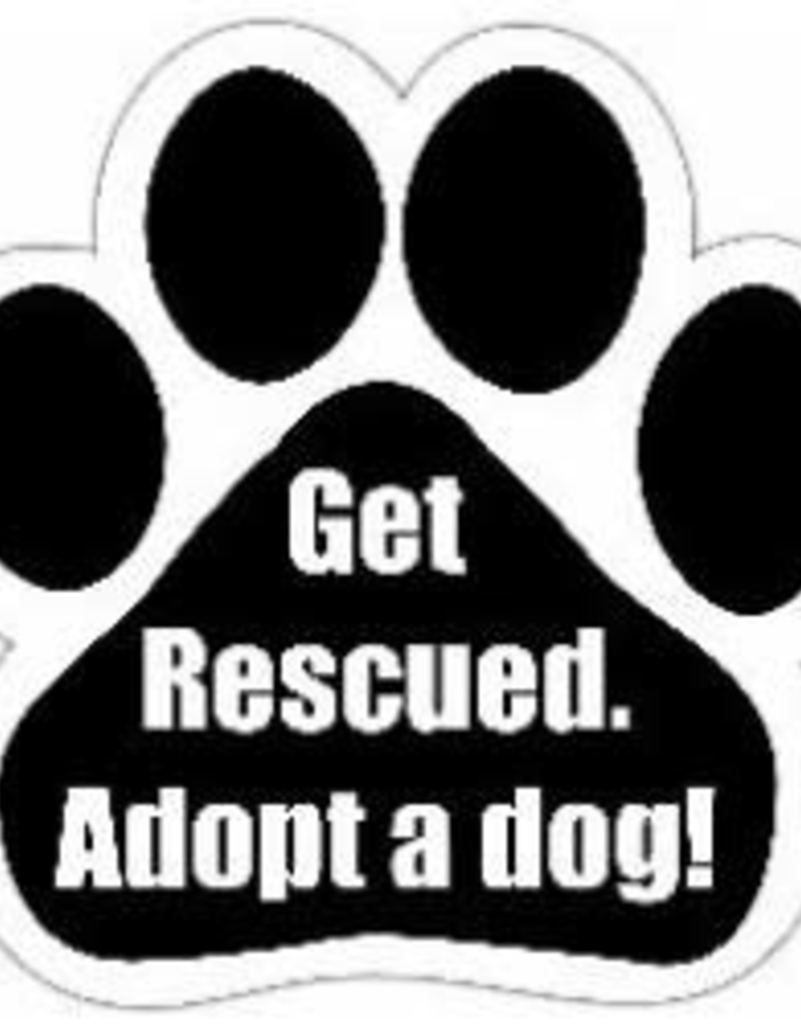 Car Magnet: Get Rescued, Adopt a Dog