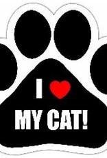 Car Magnet: I Love My Cat!