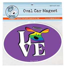 Dog Is Good Car Magnet: LOVE Pride