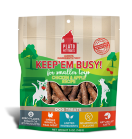 Plato Pet Treats Keep'Em Busy Chicken & Apple 5oz