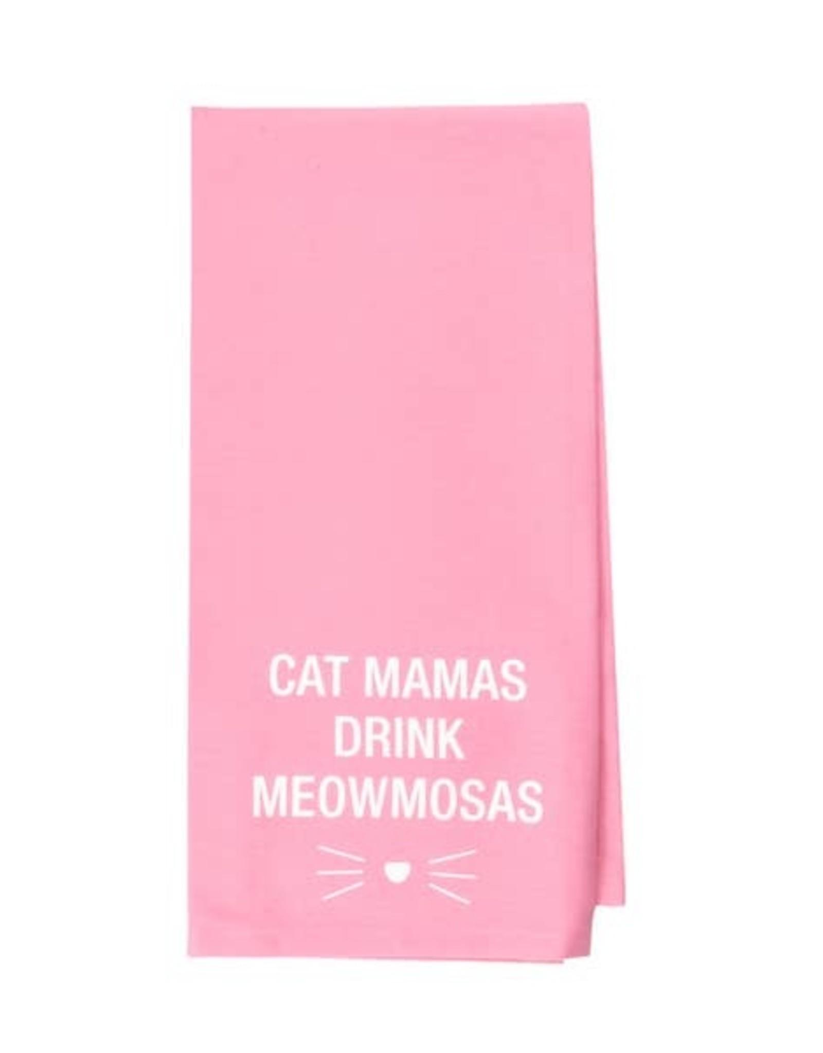 Kitchen Tea Towel - Cat Mamas Drink Meowmosas