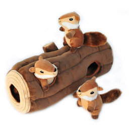 ZippyPaws ZippyPaws Burrow Large - Log with Chipmunks