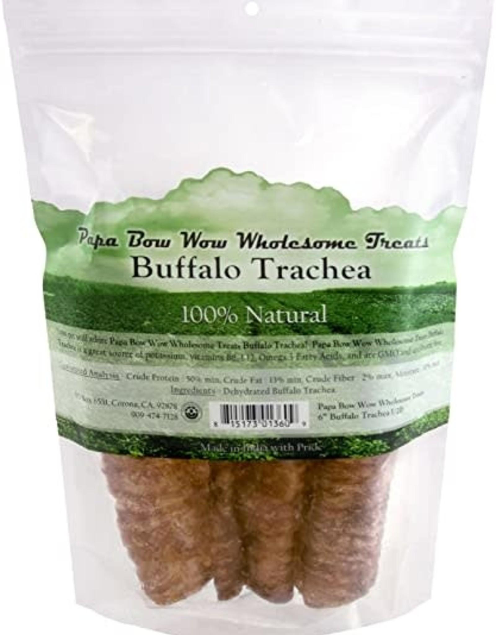 "Papa Bow Wow Papa Bow Wow Buffalo Trachea 6"" - 1/2 lb Bag"